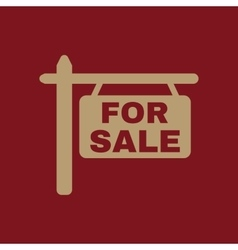 The for sale icon sale symbol flat vector