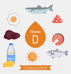 Vitamin d infographic or cholecalciferol vitamin vector