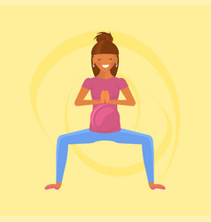 yoga for pregnant women vector image vector image