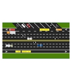 Road infographics plot road highway street vector