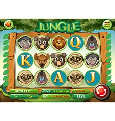 Computer game template with jungle theme vector