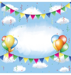 Banting balloons serpentine and confetti vector