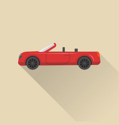 flat style cabriolet car icon vector image