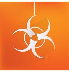 Biohazard iconbiological danger vector
