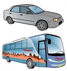 vehicle cartoons vector image