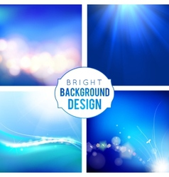 Bright Background Set vector image