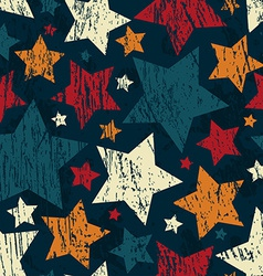 Grunge star seamless pattern vector
