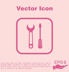 Symbol settings sign screwdriver and wrench vector