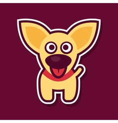Sweet yellow puppy vector