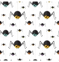 halloween spider seamless background Eps10 vector image