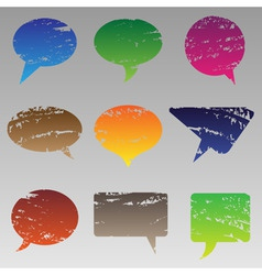 Abstract grunge speech bubbles vector