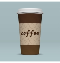 Realistic paper coffee cup vector