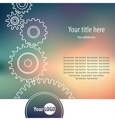 Gear wheel background vector