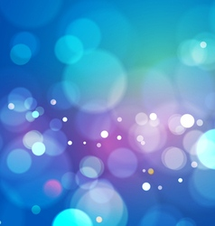 Blue abstract bokeh light background vector