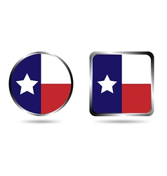 Texas flag icon isolated on white vector