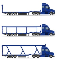 Semi truck trailer 18 vector