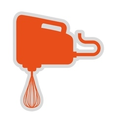 Electric mixer isolated icon design vector