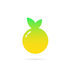 abstract summer fruite logo with gradient vector image