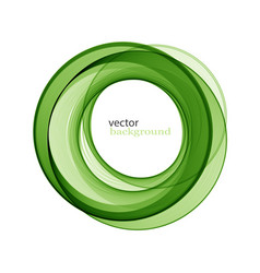 abstract transparent green swirl circle vector image