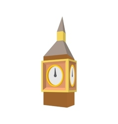 Big ben in westminster london icon cartoon style vector
