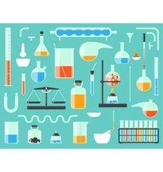 Chemical laboratory equipment vector