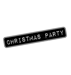 Christmas party rubber stamp vector