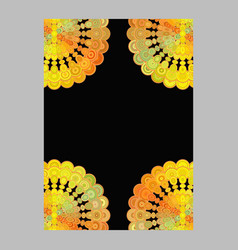 Colorful abstract floral mandala page background vector