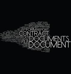 Documents word cloud concept vector