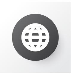 globe icon symbol premium quality isolated earth vector image