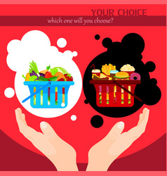 Healthy food choice poster template vector