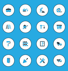 Industry colorful icons set collection of putty vector