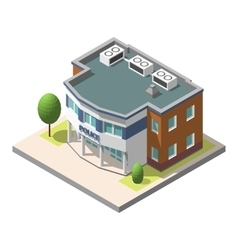 Isometric police department building vector