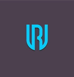 Letters u and r logo vector