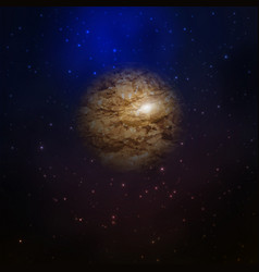 Planet in space galaxy vector