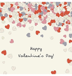 postcard with heart of Valentines day vector image