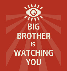 poster big brother is watching you - isolated vector image