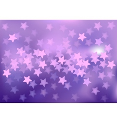 Purple festive lights in star shape background vector image vector image