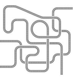 Railway line track isolated vector