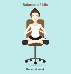 relax at work concept vector image