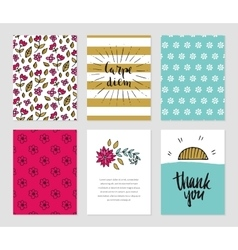 Romantic cards collection vector