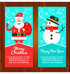 Santa Snowman Banners vector image
