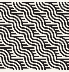 Seamless geometric pattern abstract stripy vector