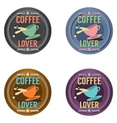 Set Of Coffee Symbol Badge vector image vector image
