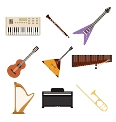 Set of music icons2 vector image