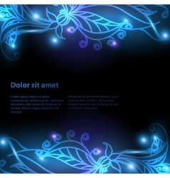 Shiny floral background for your design vector image