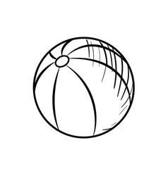 sketch baby beach ball vector image vector image