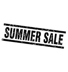 Square grunge black summer sale stamp vector