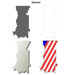 Stevens map icon set vector