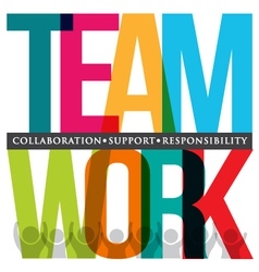 Teamwork typography vector