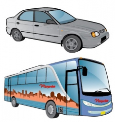 vehicle cartoons vector image